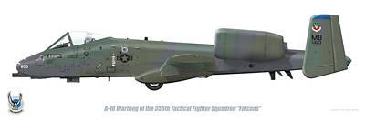 Digital Art - 355th Tfs A-10 Warthog by Barry Munden