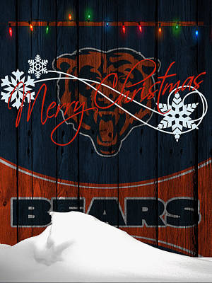 Chicago Bears Art Print by Joe Hamilton