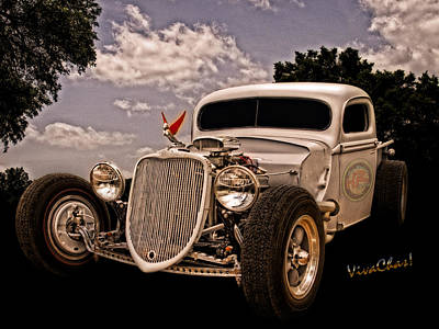 Ford Pickup Photograph - 36 Ford Rat Rod Pickup Can It Be Art? by Chas Sinklier