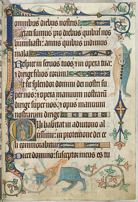 Jesus Photograph - Luttrell Psalter by British Library