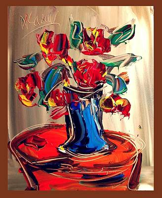 Confederate Monument Painting - Roses by Mark Kazav