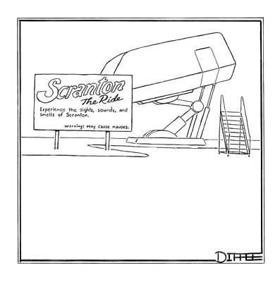 Amusement Park Drawing - Scranton The Ride by Matthew Diffee