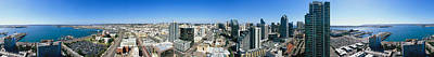 360 Wall Art - Photograph - 360 Degree View Of A City, San Diego by Panoramic Images