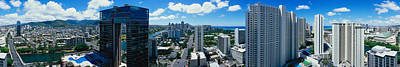 360 Wall Art - Photograph - 360 Degree View Of A City, Waikiki by Panoramic Images