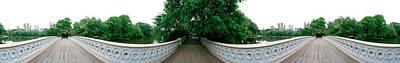 360 Degree View Of A Footbridge In An Art Print