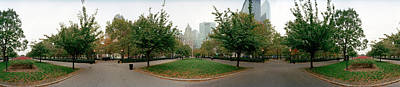 Battery Park Photograph - 360 Degree View Of A Public Park by Panoramic Images