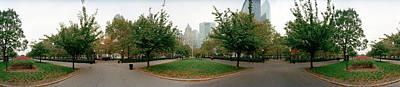 360 Degree View Of A Public Park Art Print