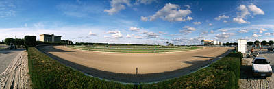 360 Degree View Of Horse Racing Track Art Print by Panoramic Images