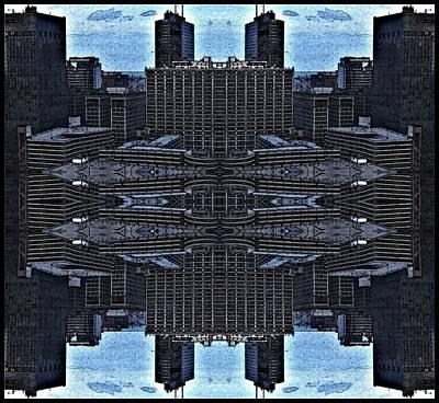 Esher Digital Art - 360 Esher Quad Metro  by Carolyn Bornfleth