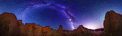 Photograph - 360 Milky Way Pano At Paint Mines by Photo By Matt Payne Of Durango, Colorado