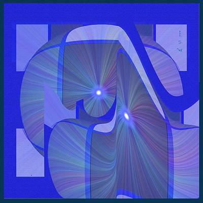 Sun Rays Digital Art - 363 - Lucid Blue 4 by Irmgard Schoendorf Welch