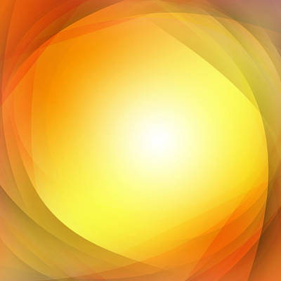 Warm Digital Art - Abstract Background by Les Cunliffe