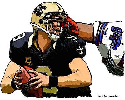 New Orleans Saints Drawings Digital Art - 368 by Jack K