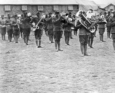 Harlem Wall Art - Photograph - 369th Infantry Regiment Band by Underwood Archives
