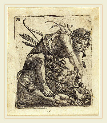Overcoming Drawing - Albrecht Altdorfer German, 1480 Or Before-1538 by Litz Collection