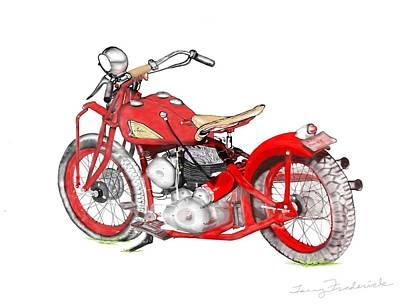 37 Chief Bobber Art Print