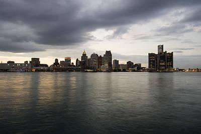 Night Photograph - Detroit Skyline by Gary Marx