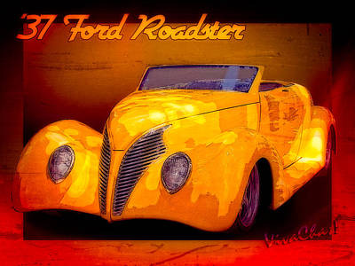 Roadster Photograph - 37 Ford Roadster by Chas Sinklier