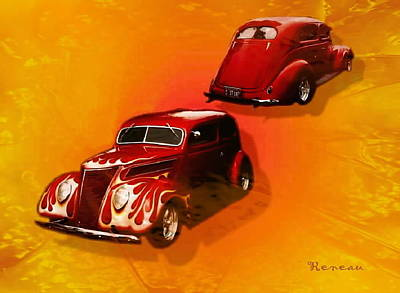 Photograph - '37 Ford Street Rod by Sadie Reneau