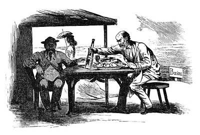 Caricature Painting - Prince Otto Von Bismarck (1815-1898) by Granger