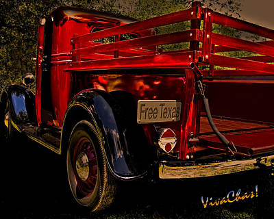 Ford Pickup Photograph - 37 Ranch Truck by Chas Sinklier
