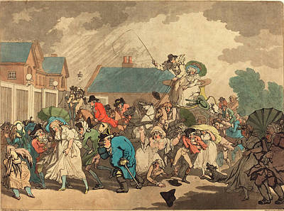 Hyde Park Drawing - Thomas Rowlandson British, 1756  1827 by Litz Collection