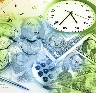 Accountancy Photograph - Time Is Money  by Les Cunliffe