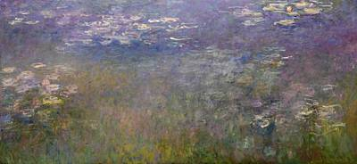 Kansas Oil Painting - Water Lilies by Claude Monet