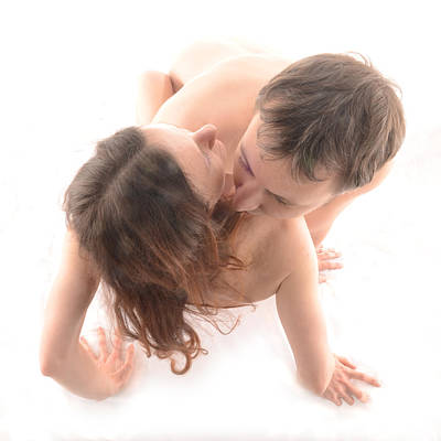Photograph - 3735 Nude Couple by Chris Maher