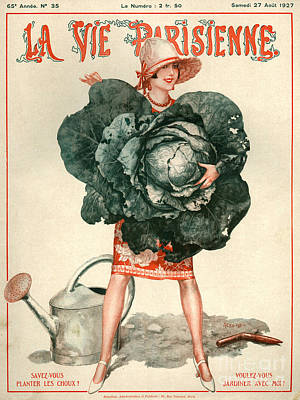 Cabbage Drawing - 1920s France La Vie Parisienne Magazine by The Advertising Archives