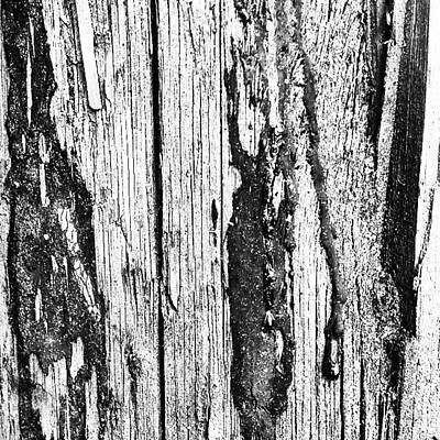 Abstract Wall Art - Photograph - Wooden Post B 'n' W 2 by Jason Michael Roust