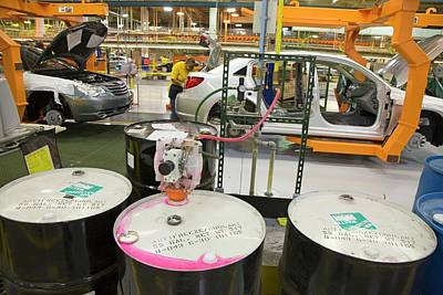 Sterling Photograph - Car Assembly Production Line by Jim West