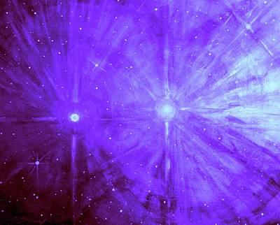 Cosmic Light Series Art Print by Len Sodenkamp