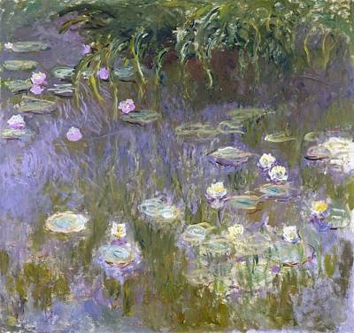 Ohio Painting - Water Lilies by Claude Monet