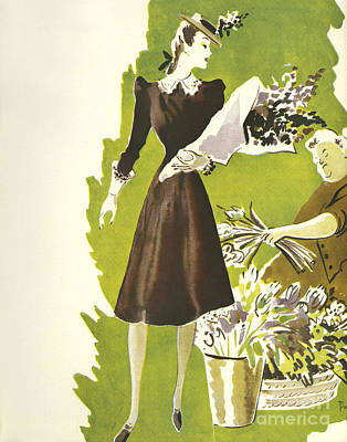 WomenÕs Fashion 1930s 1939 1930s Uk Print by The Advertising Archives