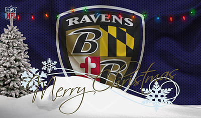 Baltimore Ravens Print by Joe Hamilton