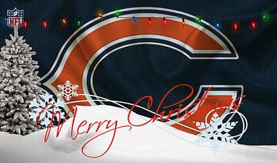 Christmas Photograph - Chicago Bears by Joe Hamilton
