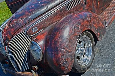 39 Ford Photograph - 39 Ford Pick Up Rusty Relic  by JW Hanley