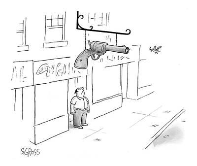 New Yorker April 17th, 2000 Art Print by Sam Gross
