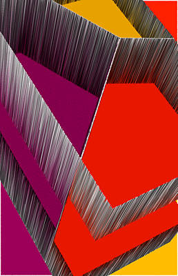 3d Abstract 4 Print by Angelina Vick