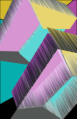 3d Abstract 8 Print by Angelina Vick