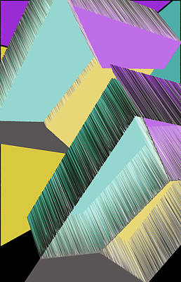 3d Abstract 9 Print by Angelina Vick