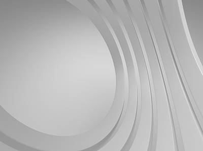Photograph - 3d Blank Abstract Architecture by Me4o