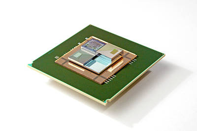 Microchip Photograph - 3d Chip Stack by Ibm Research