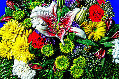 Gaudy Painting - 3d Flowers With Hdr by Bruce Nutting