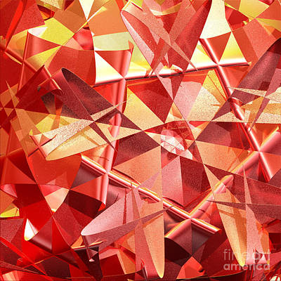 3d Folded Abstract Art Print by Gaspar Avila
