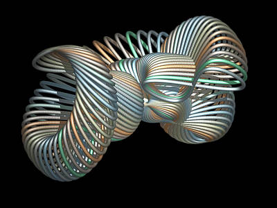 Design Pics Painting - 3d Fractal Klein Bottle by Faye Symons