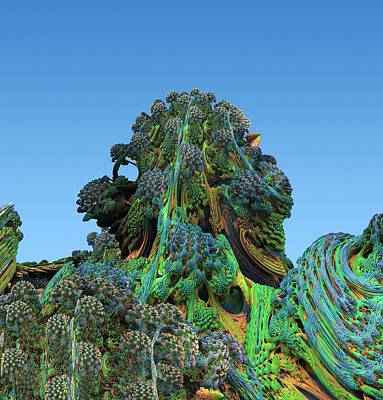 Fractal Geometry Photograph - 3d Fractal Landscape by David Parker
