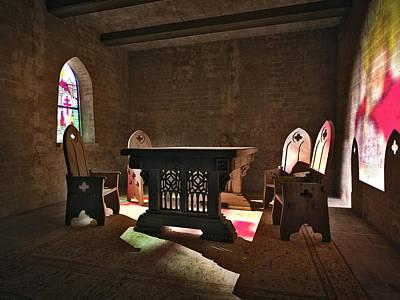 3d Gothic Room Art Print