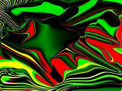 Etc. Digital Art - 3d  Green Swirls by HollyWood Creation By linda zanini